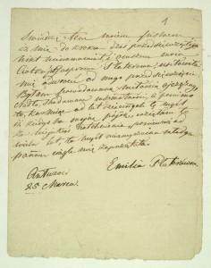 Skan pisma z Archiwum Platerów