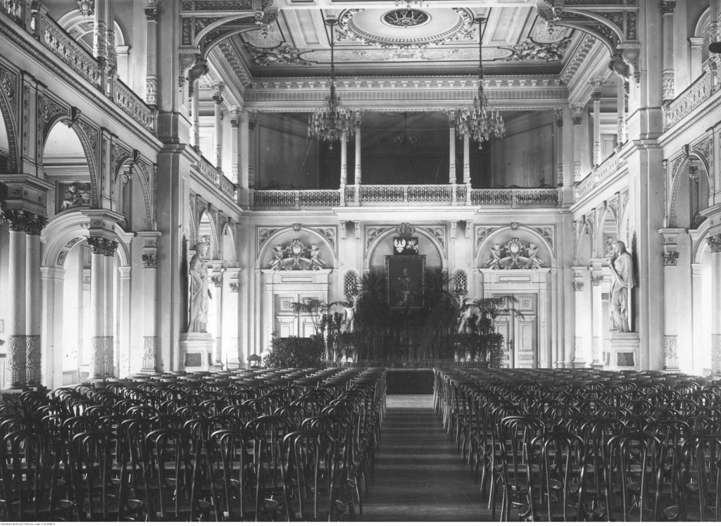 Ratusz przy Placu Teatralnym w Warszawie - siedziba Magistratu, 1926