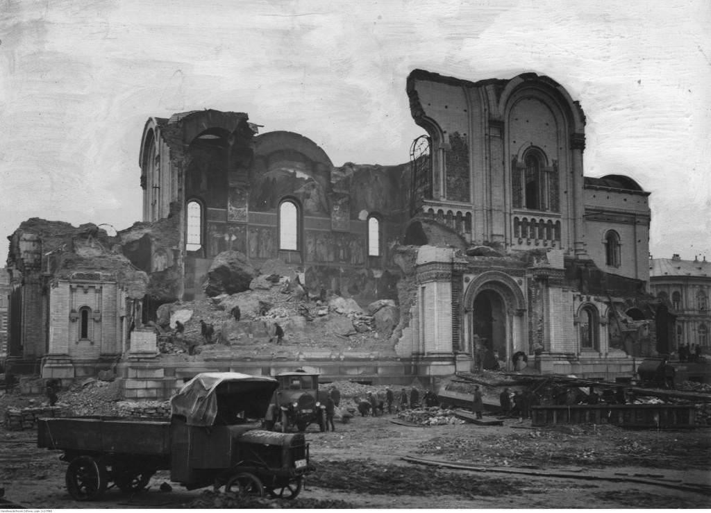 Dawny Sobór prawosławny na placu Saskim, 1926