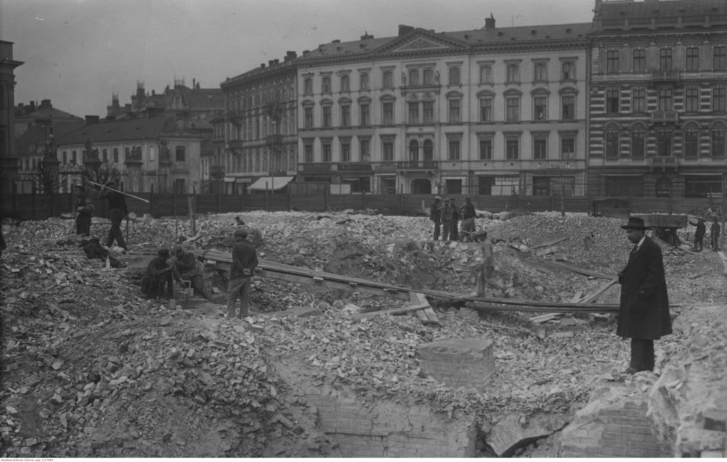 Szczątki soboru przy placu Saskim, 1926