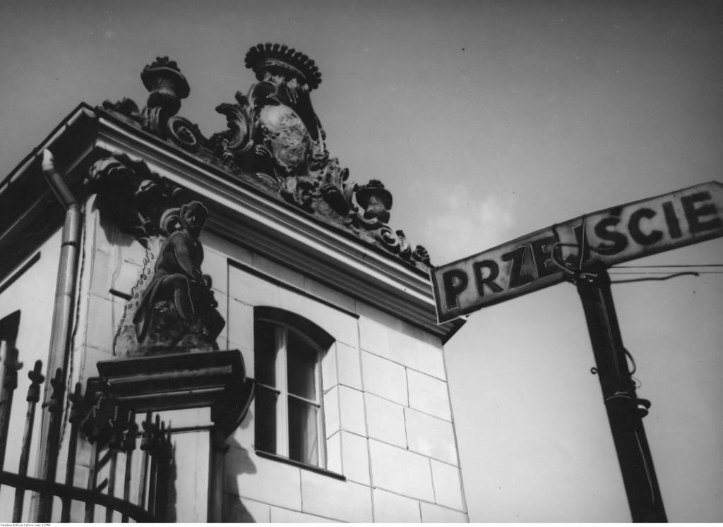 Fragment Pałacu Bruhla w Warszawie, 1942