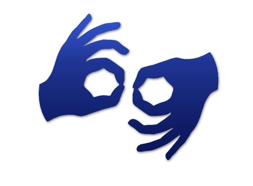 grafika oznaczająca tłumaczenie na język migowy