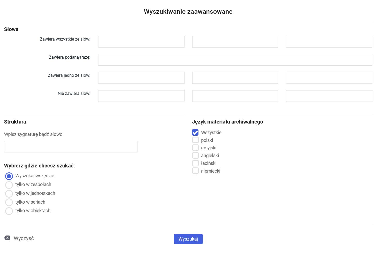 grafika przedstawiająca wyszukiwarkę zaawansowaną